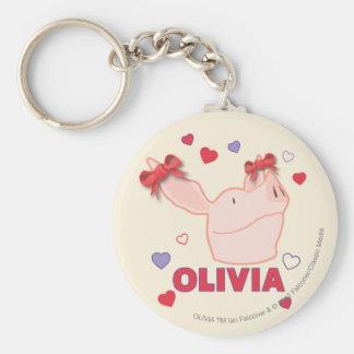 Olivia - corazones llavero personalizado