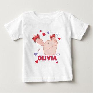 Olivia - corazones playera para bebé