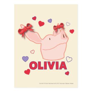 Olivia - corazones postal