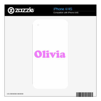 Olivia - Design by Dominic Joyce iPhone 4S Skin