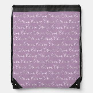 Olivia - diseño moderno del nombre de la mochila