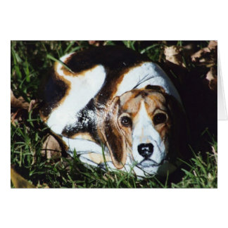 """Olivia"" dog rock card"