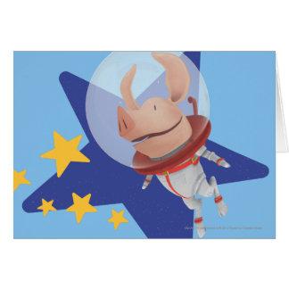 Olivia el astronauta tarjeta de felicitación