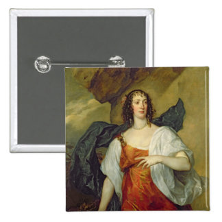Olivia, esposa del portero de Endymion, c.1637 Pin Cuadrado