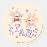 Olivia - estrellas etiqueta redonda
