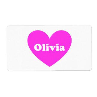 Olivia Etiquetas De Envío