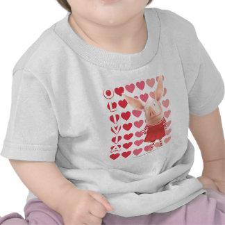 Olivia - fondo del corazón camisetas