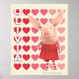Olivia - fondo del corazón póster