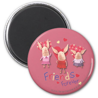 Olivia - Friends Forever 2 Inch Round Magnet