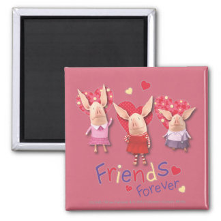 Olivia - Friends Forever 2 Inch Square Magnet