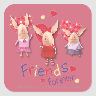 Olivia - Friends Forever Square Sticker