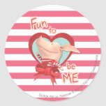 Olivia - Fun to be Me Classic Round Sticker