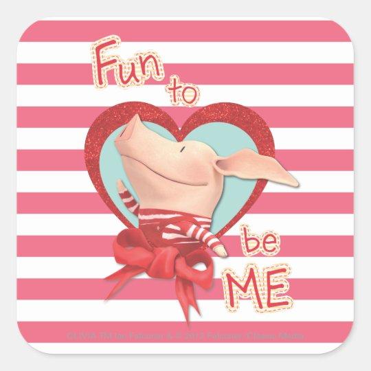 Olivia - Fun to be Me Square Sticker
