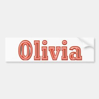 OLIVIA  Girl Name Text Car Bumper Sticker