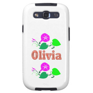 OLIVIA  Girl Name Text Samsung Galaxy S3 Cases