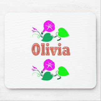 OLIVIA Girl Name Text Mouse Pads