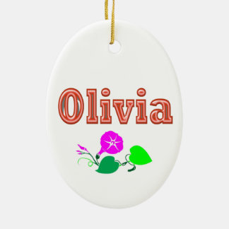 OLIVIA  Girl Name Text Christmas Tree Ornament