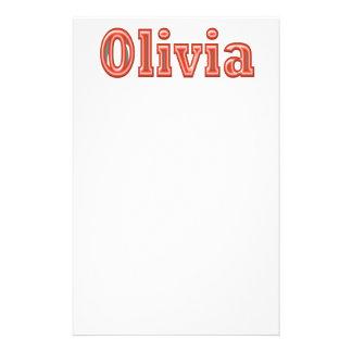 OLIVIA  Girl Name Text Stationery