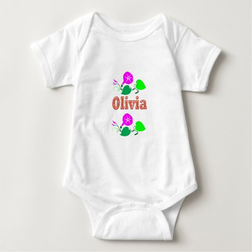 OLIVIA  Girl Name Text T-shirt