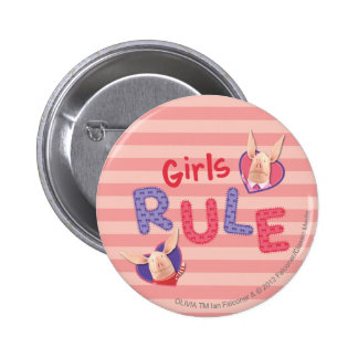Olivia - Girls Rule 2 Inch Round Button