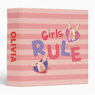 Olivia - Girls Rule 3 Ring Binder