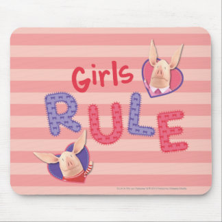Olivia - Girls Rule Mouse Pad