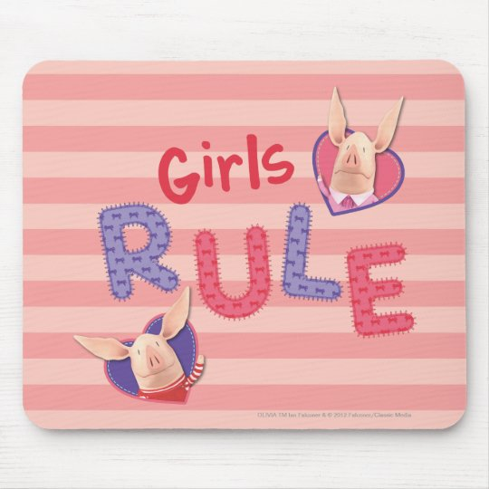 Olivia - Girls Rule Mouse Pad