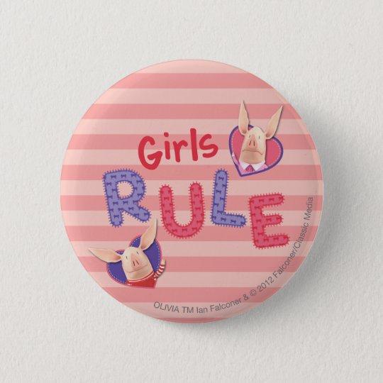 Olivia - Girls Rule Pinback Button