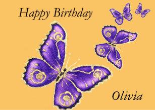 Happy Birthday Olivia Invitations Stationery Zazzle