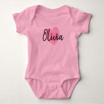 Olivia Heart Baby Bodysuit