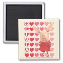 Olivia - Heart Background Magnet