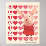 Olivia - Heart Background Print