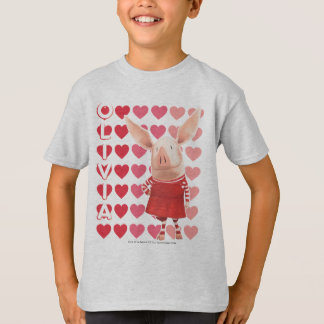Olivia - Heart Background T-Shirt