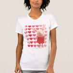 Olivia - Heart Background T Shirts