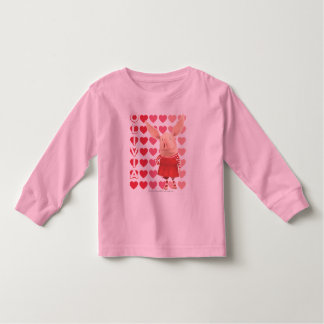 Olivia - Heart Background Toddler T-shirt