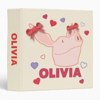 Olivia - Hearts Vinyl Binders