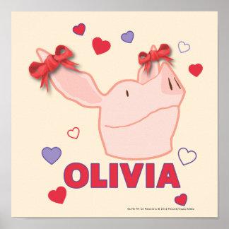 Olivia - Hearts Poster