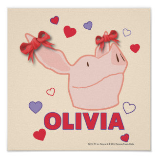 Olivia - Hearts Posters