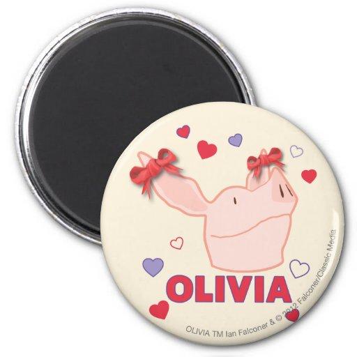 Olivia - Hearts Refrigerator Magnet