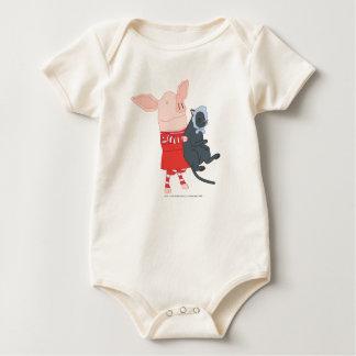 Olivia Holding Edwin the Cat Baby Bodysuit