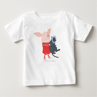 Olivia Holding Edwin the Cat Baby T-Shirt