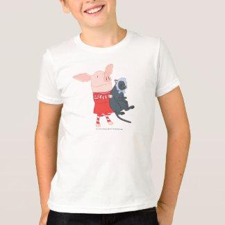 Olivia Holding Edwin the Cat T-Shirt