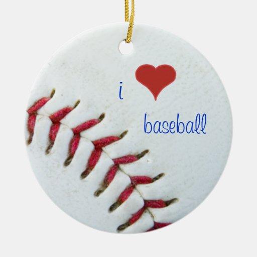 Olivia, I Love Baseball Ceramic Car Ornament 20XX