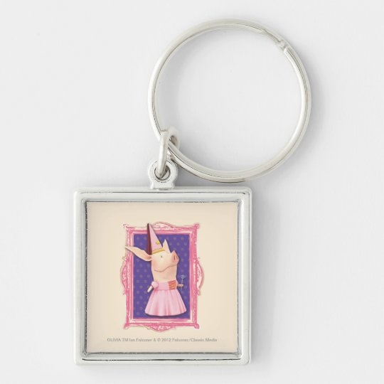 Olivia in Pink Frame Keychain