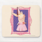 Olivia in Pink Frame Mouse Pad