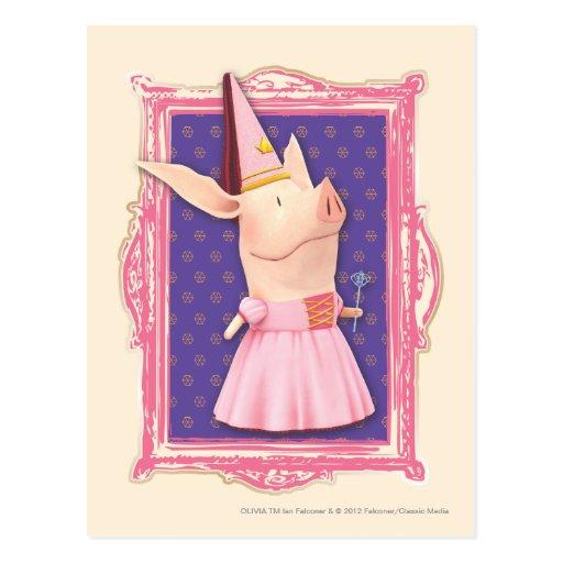 Olivia in Pink Frame Postcards