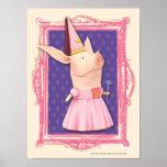 Olivia in Pink Frame Poster