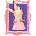 Olivia in Pink Frame Statuette