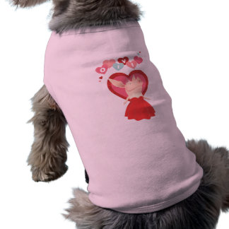 Olivia in Red Dress Pet T-shirt