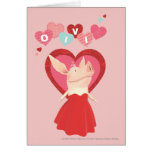 Olivia in Red Dress Greeting Card
